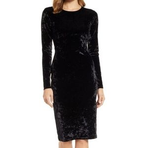 NWT Michael Kors Long Sleeve Black Velvet Dress
